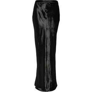 T by Alexander Wang Panne Black Velvet Long Skirt